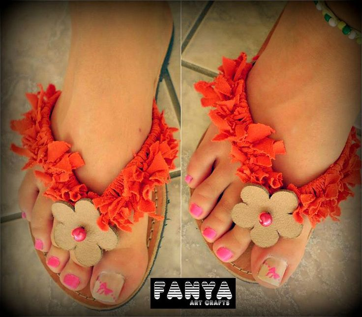 """handmade sandals """"fluffy"""""""