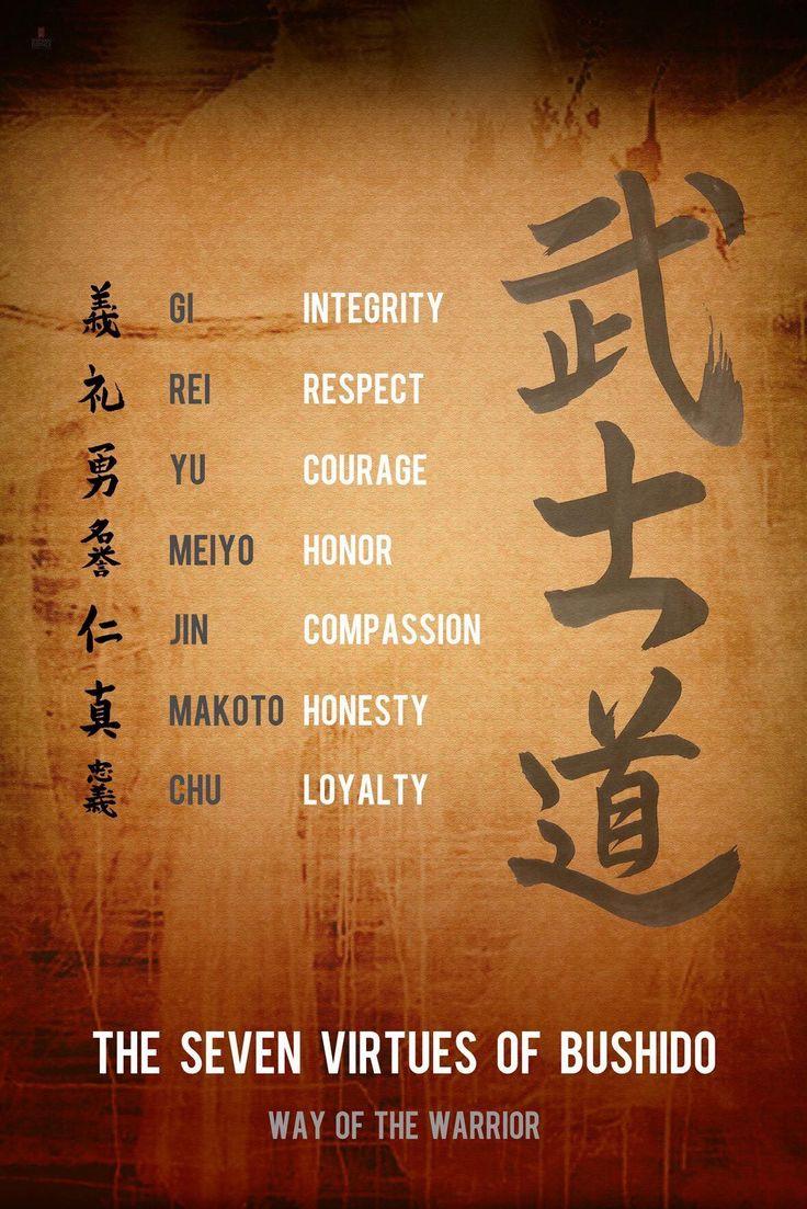 Seven Values I admire in my Japanese partners (Bushido ). #adishinternational #GaiaXAsia