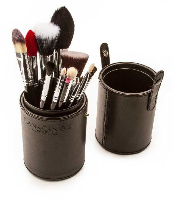 CURRENTLY OUT OF STOCK  This 12 piece set contains the following  1. F03 Large Duo Fibre Stipple/Highlight Brush  2. F04 Angled Brush (Contour Brush)  3. F15 Small Tapered  4. F25 Large Powder/Bronzer (Vegan friendly)  5. The F20 Flat Top Buffer/ Kabuki  6. E10 Small socket blending brush  7. F17 Concealer Eye Brush  8. E24 Flat Shader Brush  9. E32 Round Top Blending Brush  10. E28 Ultra Fineliner  11. E38 Brow Finisher  12. L29 Lip Brush/Winged Eyeliner Brush