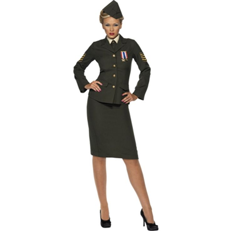Wartime Officer Womens Costume