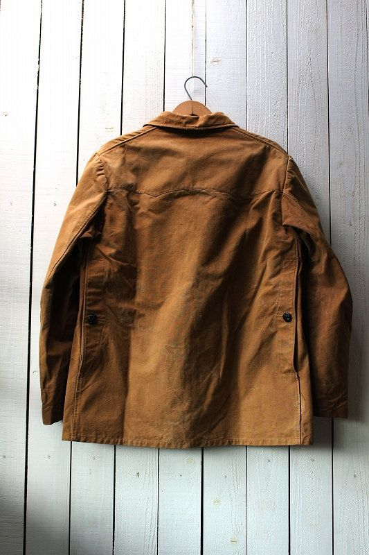 I guess this jacket is 1950s of France ,good vintage.    From:1950s France    Labels: MANUFRANCE and COLAM    Material:Cotton(duck)