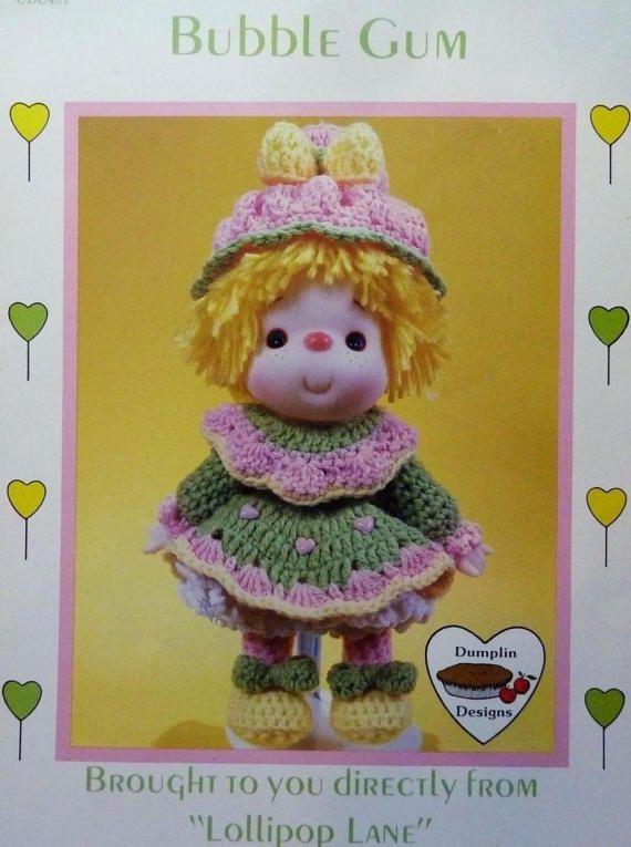 Bubble Gum, Dumplin Designs Lollipop Lane Crochet Doll Pattern Booklet CDC401