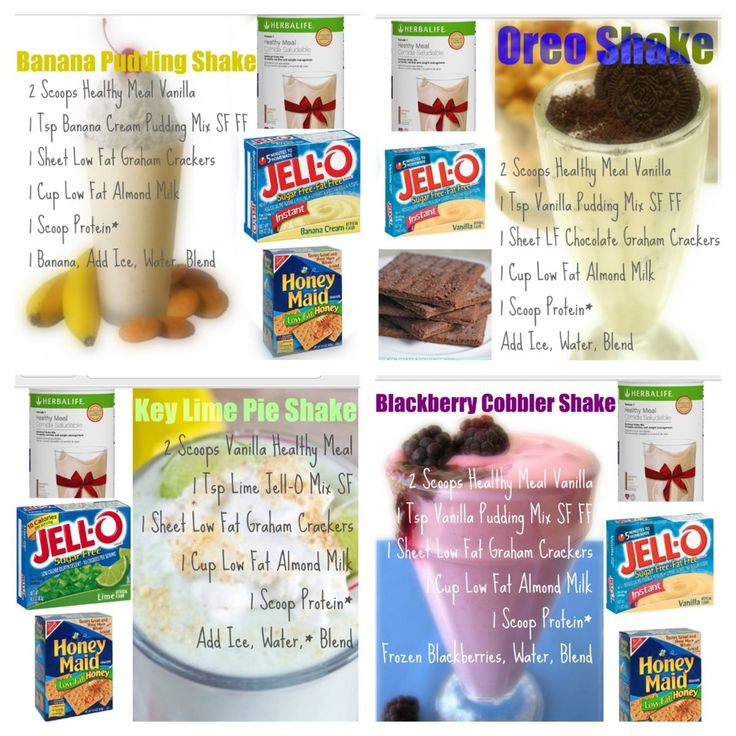 Herbalife Shake Recipe-Made with French Vanilla Formula 1 Banana Pudding, Oreo Shake, Key Lime, Berry Cobbler