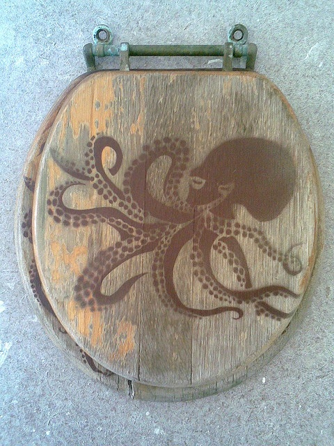 Octopus toilet seat cover