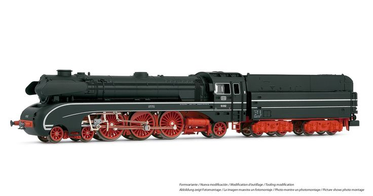 Steam locomotive, class 10 002 of the DB with oil tender