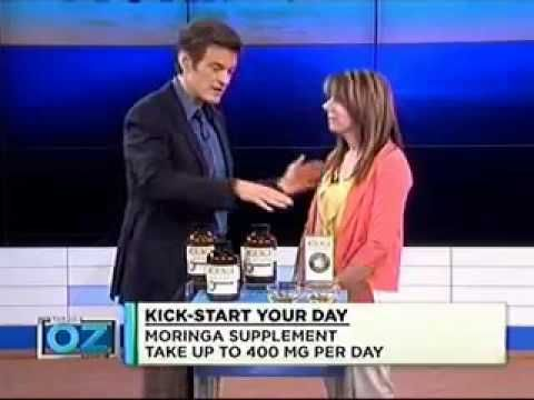 """""""The Dr. Oz Show"""" featured Moringa oleifera, a """"miracle tree"""" known for its superior nutritional and healing capabilities. Dr. Oz recommended Moringa oleifera as one of five natural ways to jump-start your day in his show on re-energizing your life. Moringa oleifera's naturally occurring nutrients, anti-oxidant and anti-inflammatory compounds offer unique anti-aging and energy-enhancing qualities."""