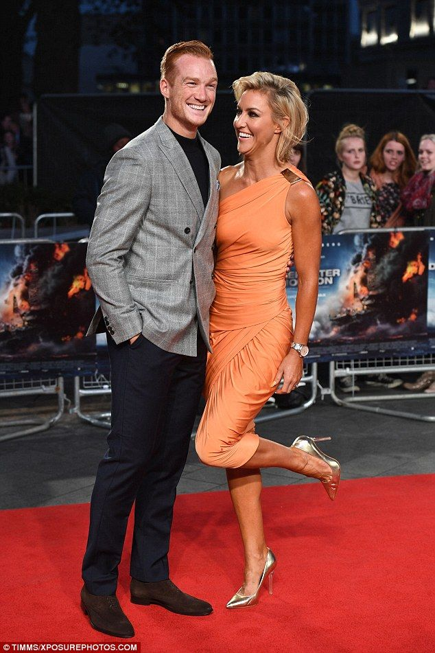 Strictly business! Olympian Greg Rutherford beamed as he posed with his Strictly dancing partner Natalie Lowe