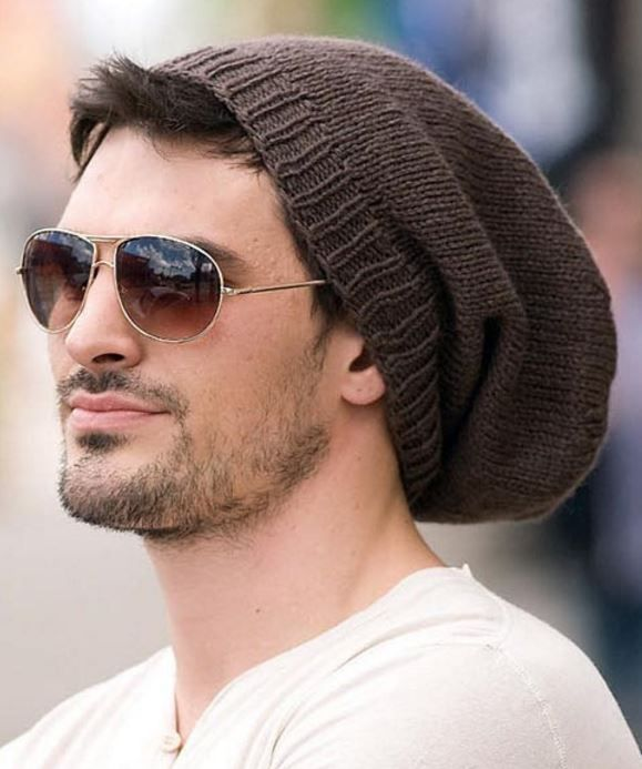 Knitting Pattern for Easy-Going Slouchy Beanie - #ad Super slouchy unisex hat great for men. 1 of 7 hat designs in Knit Celebrity Slouchy Beanies For the Family ebook. More pics at Leisure Arts tba