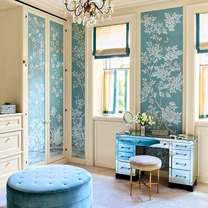 Im Not Sure We Would Ever Want To Leave This Beautiful Dressing Room Designed By In Our Caroline Street Handpainted Design Was Named After The Home
