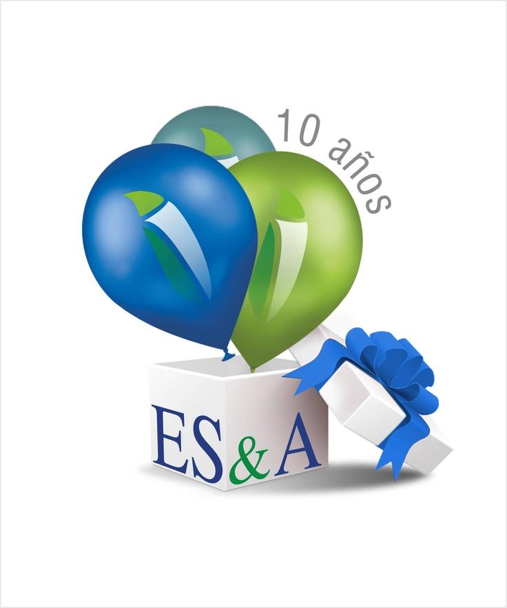 Logotipo conmemorativo de los 10 años de actividad de nuestro Equipo Consultor, a cumplirse durante el 2013.