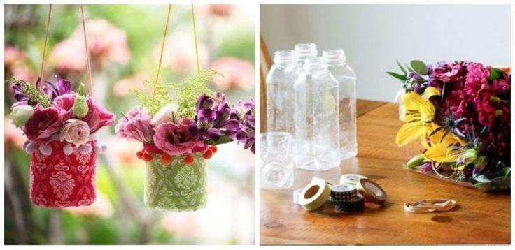 Inspira-te din articolul de astazi si transforma pet-urile din plastic in obiecte decorative pentru gradina si casa. Idei creative DIY