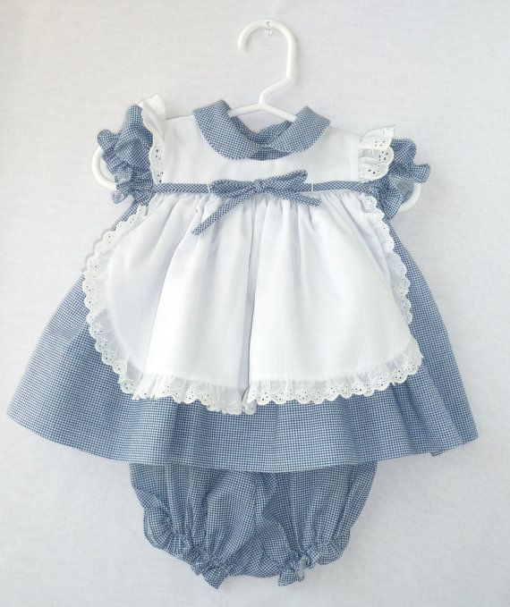 C.I.Castro and Co. Infant Blue and White by StarrChildVintage, $22.00 Castro is a San Antonio based company.