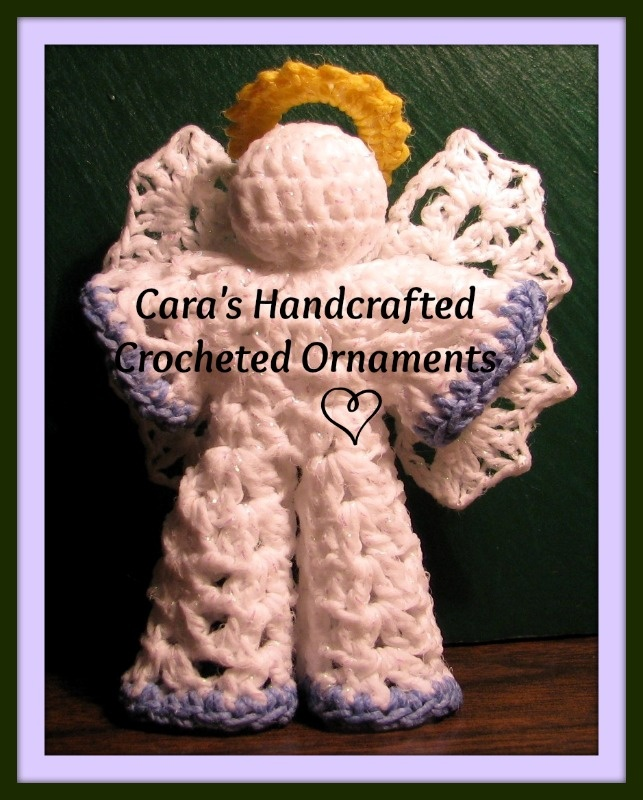 Small Angel Boy 'Jack' available by custom order from Cara's Handcrafted Crocheted Ornaments.     Find me on Facebook at www.facebook.com/CarasHandcraftedCrochet  and on Etsy at www.etsy.com/shop/CaraLouiseCrochet    Pattern is also available on Craftsy and Ravelry  http://www.craftsy.com/user/173678/pattern-store  http://www.ravelry.com/designers/caras-handcrafted-crocheted-ornaments