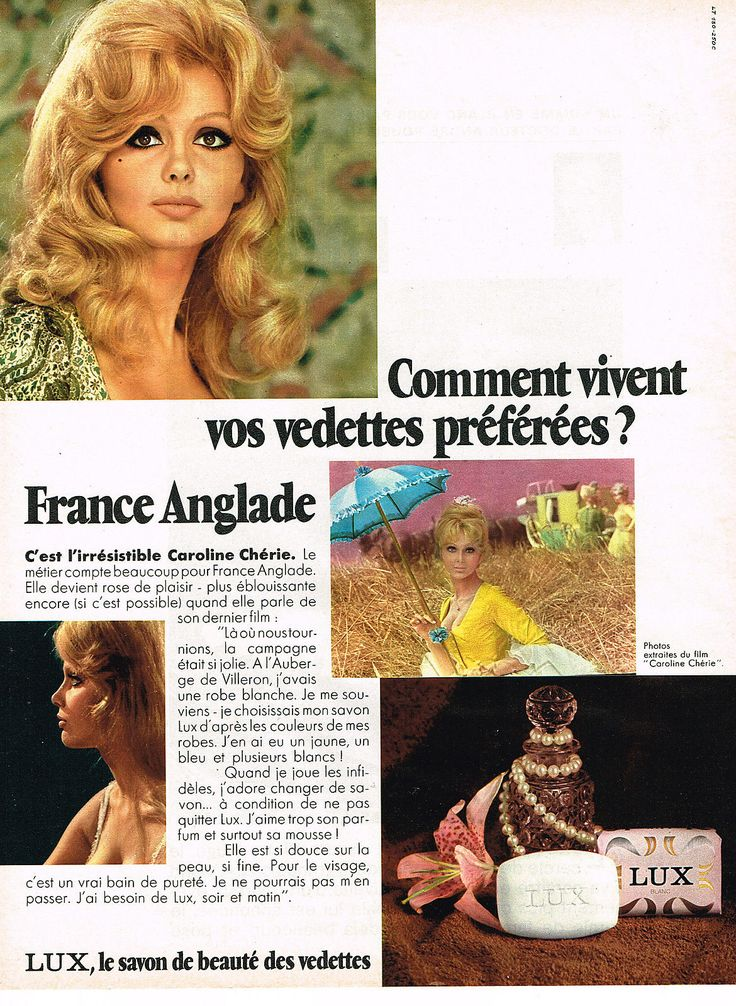 0 france anglade - ad for lux soap 1968