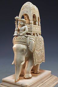 Superb 19th C. Indian Carved Ivory Figure.