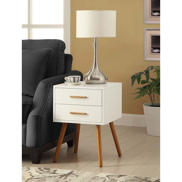 Convenience Concepts Oslo Two-drawer End Table | Overstock.com Shopping - The Best Deals on Coffee, Sofa & End Tables
