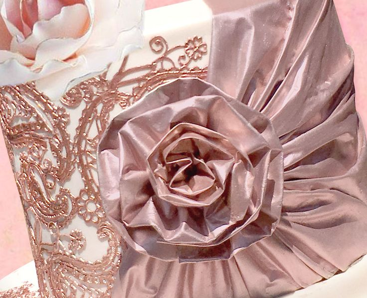 Rose Gold Edible Fabric by Crystal Candy