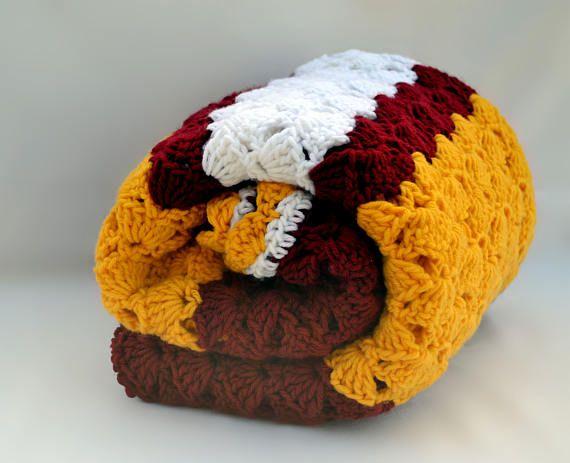 Manta de ganchillo inspirados de ventilador USC crochet