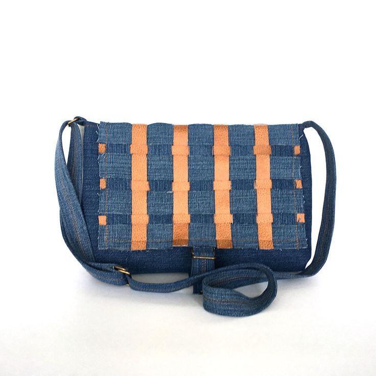 Джинсовая сумка кошелек Recycled джинсовой синий от Sisoibags на Etsy
