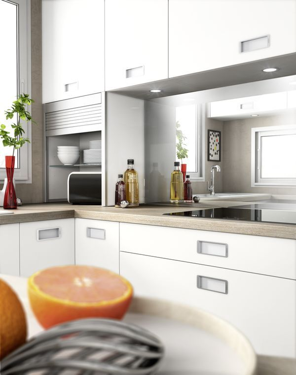 9 best Cuisines, petits espaces images on Pinterest Kitchens - cuisine ilot central conforama