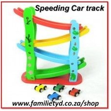 Speeding Car Track ~ wooden! Only R145!  Also suitable for marbles or small balls.  ►►http://www.familietyd.co.za/shop/index.php?route=product%2Fproduct&product_id=451