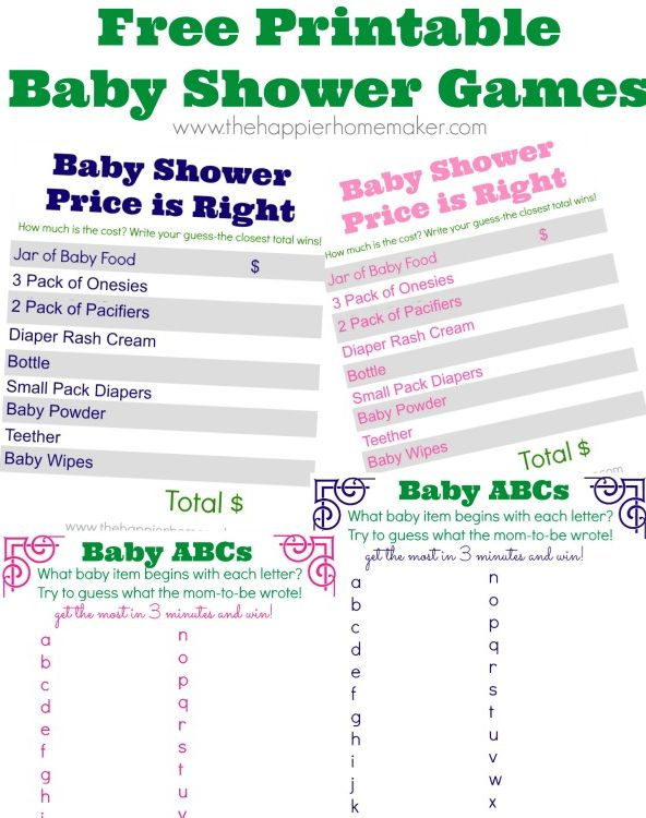 free cute baby shower game printables!