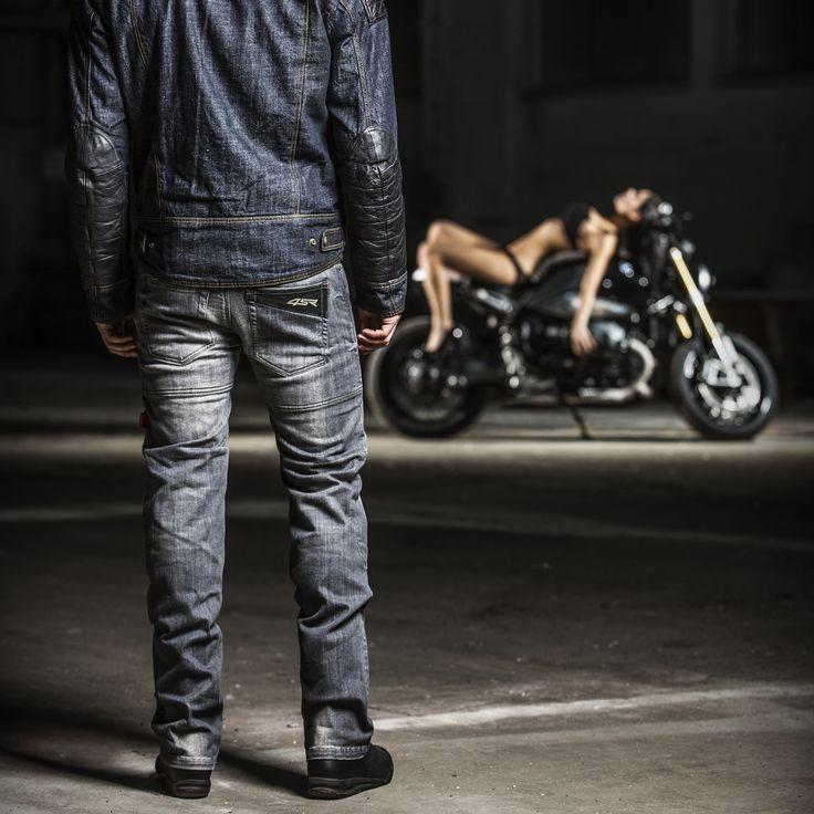 4SR Cool Grey motorcycle jeans #Bikerjeans #ridingjeans #kevlar