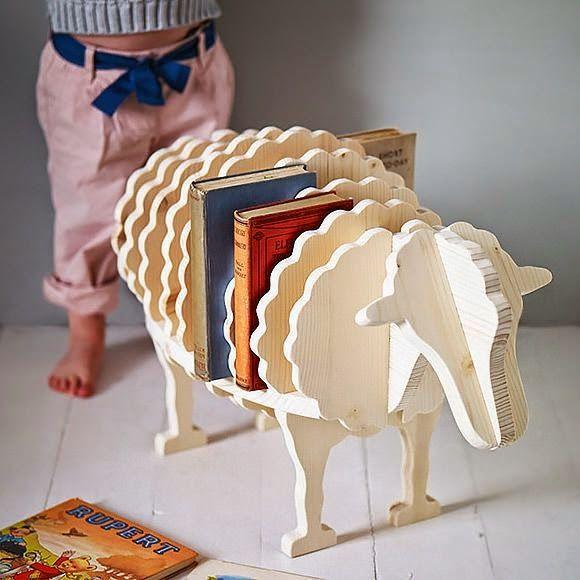Ciekawe półki na książki dla dzieci – inspiracje.   Lilannn