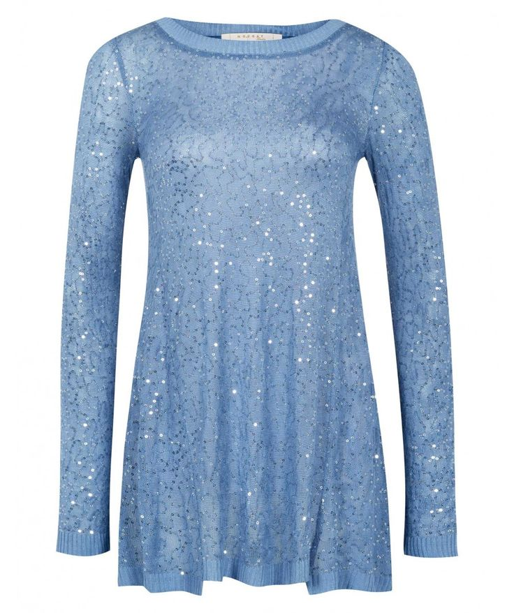 Sequined And Satin Panelled Sweater