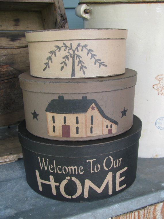 Hey, I found this really awesome Etsy listing at https://www.etsy.com/listing/218538768/primitive-welcome-to-our-home-saltbox