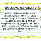 Writer's Notebook Included in this package are several topics/prompts for students to write about, mid-point and end-of-year self-assessments, teacher scoring rubric, curriculum expectations (I Can statements) and an example entry. #language arts, #writing, #writer's notebook, #English, #writing assessment, #self assessment, #writing skills, #I can, # creative writing