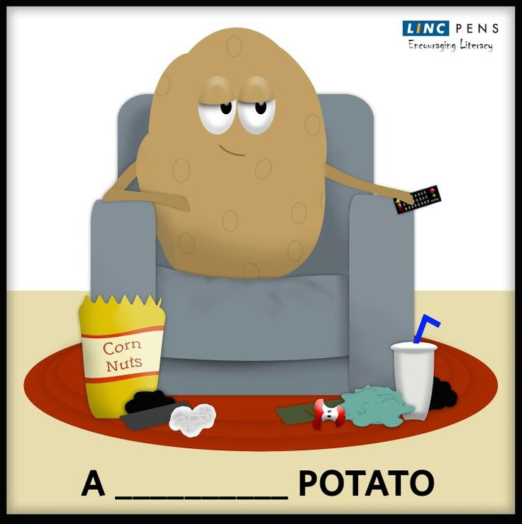 A person who spends much time sitting or lying down, usually watching television is called a __________ potato. ‪#‎Idioms‬