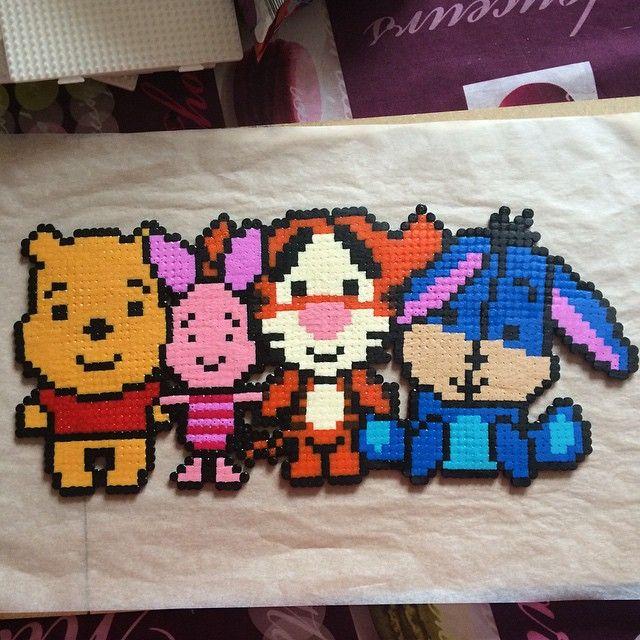 Winnie the Pooh hama beads by _hamabeads_01