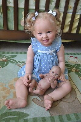 Ooak-Reborn-newborn-real-life-baby-girl-Toddler-Shelly-3year-Baby-art-doll