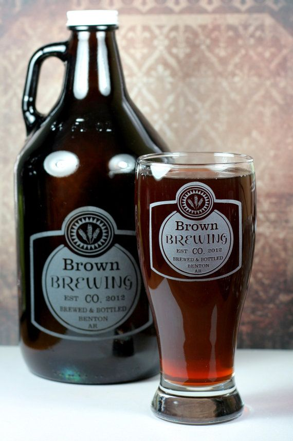 Best Home Brew Glasses And Growlers Images On Pinterest Beer