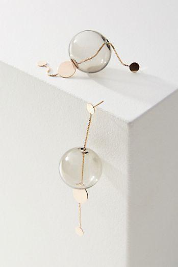 Glassy Long Drop Earrings