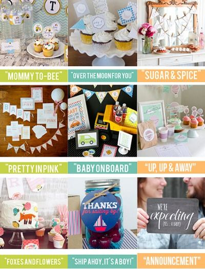 Check out these creative baby shower themes -- so fun and easy!