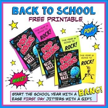Back to School Freebie - Welcome Gift by Science Tigers and Bears Oh My