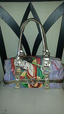 Ed Hardy by Christian Audigier embellished, sequined vintage design shoulder bag