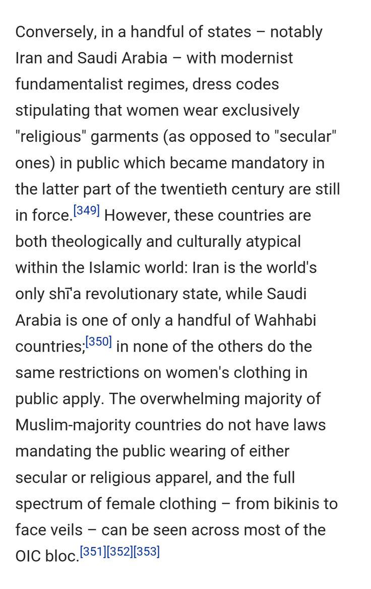 Muslim dress code.