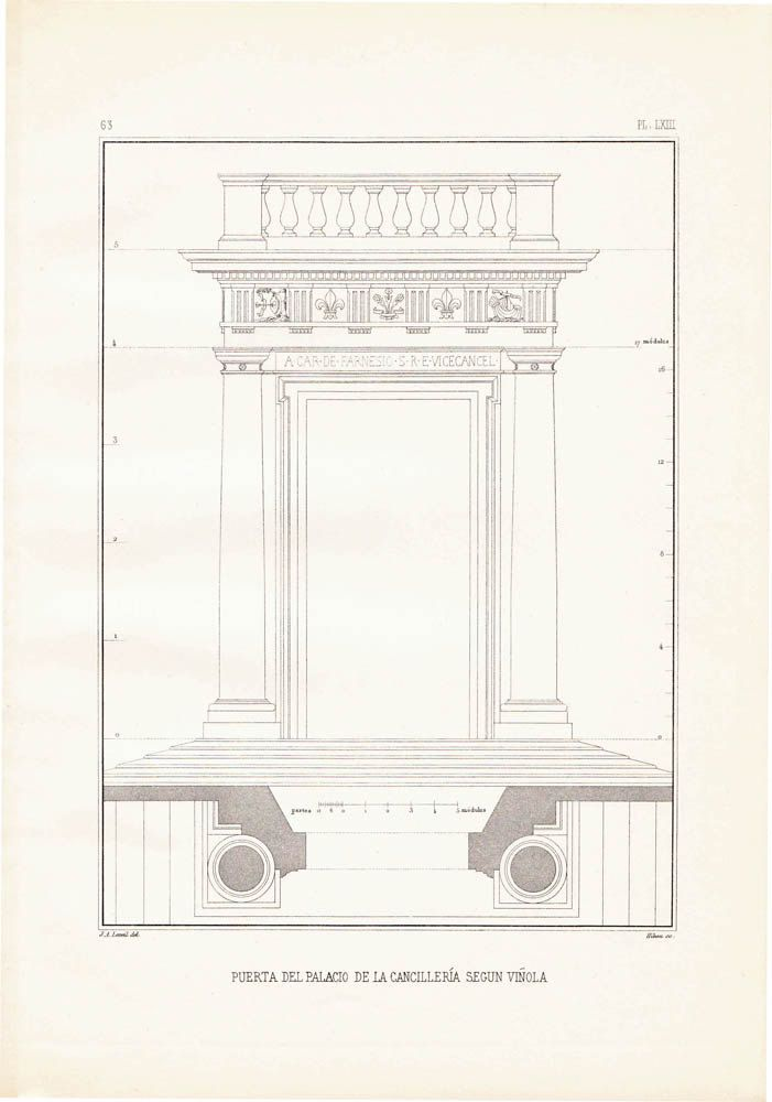 1920s vintage print classical architecture chancery for Donde puedo estudiar arquitectura
