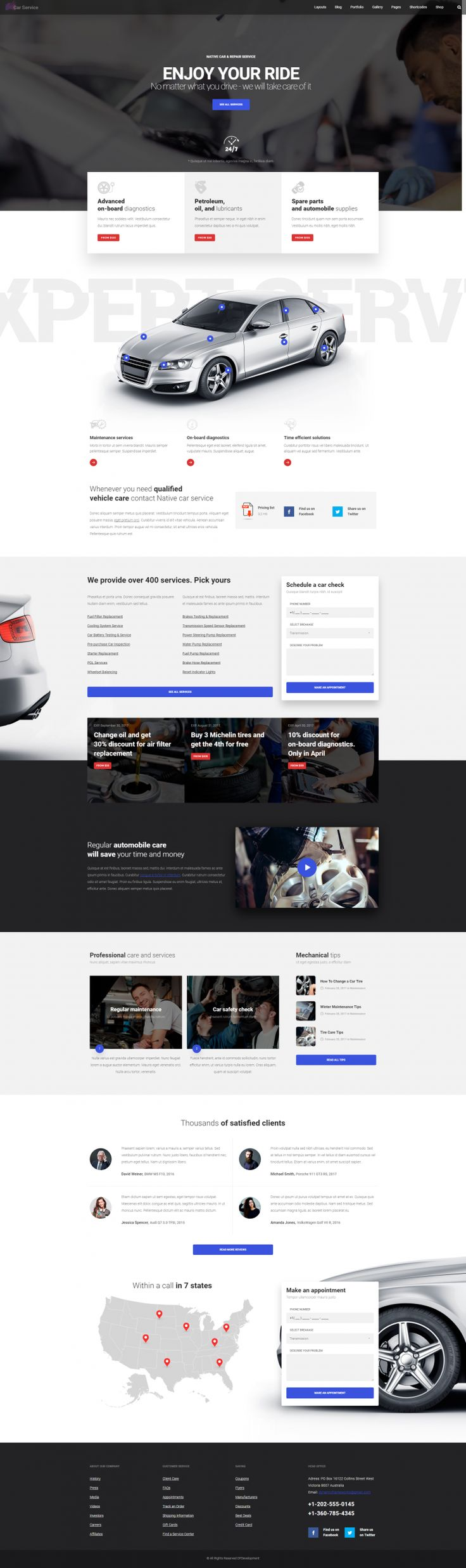 Native – Car Service Landing Page