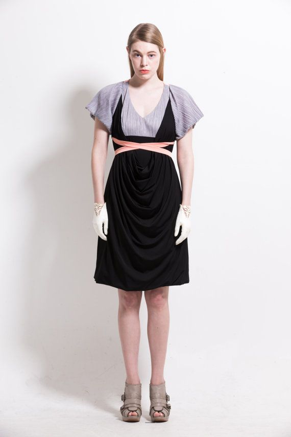 Draped satin jersey dressresort sundress by couturierholiday, $305.00