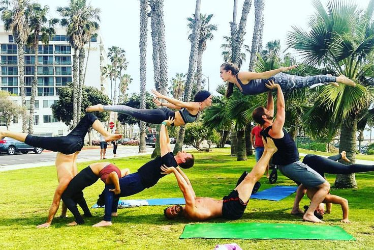 95 best images about AcroYoga 3+ Person Poses on Pinterest ...