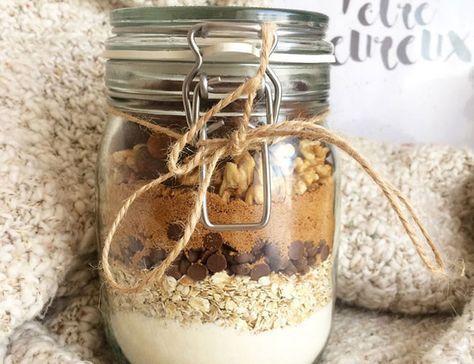 Un kit gourmand à offrir: Cookies healthy dans un bocal A gourmet kit to offer: Healthy cookies in a jar