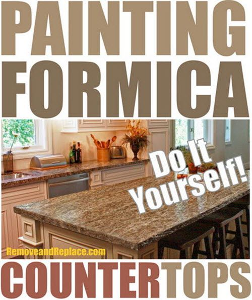 Don't remodel when you can use paint to transform your counter tops! Resurfacing counter tops and cabinets is a fantastic way to revitalize a kitchen. Formica can be a little tricky to work with but these tips will help you paint it easily. See the easy steps at removeandreplace.com here… Painting Formica Counter Tops The …