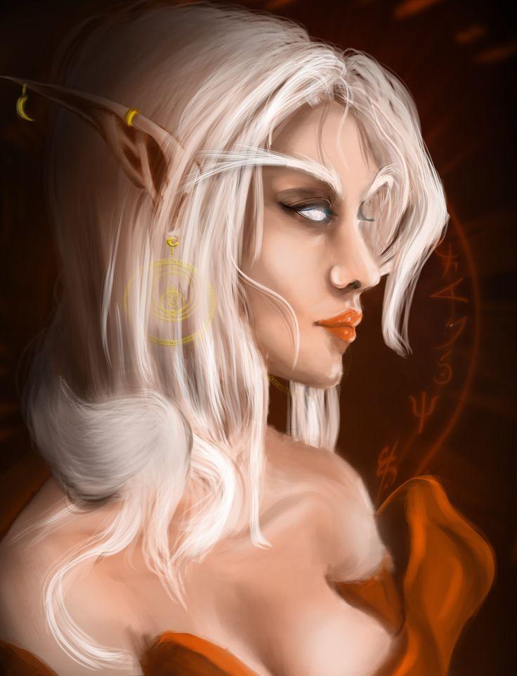 Blood Moon Elf, Stefan Borac on ArtStation at https://www.artstation.com/artwork/xxgrr