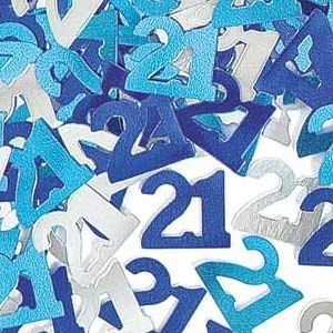 M55213 - Confetti - Happy 21st Birthday Confetti Happy 21st Birthday Glitz Blue Blue 14g foil. (Choking Hazard, not suitable for children under 3). Please note: approx. 14 day delivery time,