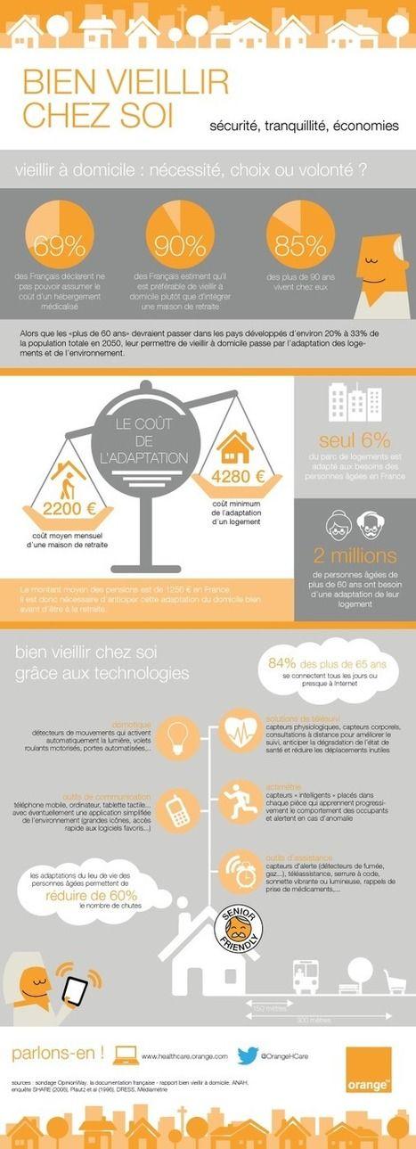 «Bien Vieillir chez soi», une infographie par Orange Healthcare   UseNum - Senior   Scoop.it