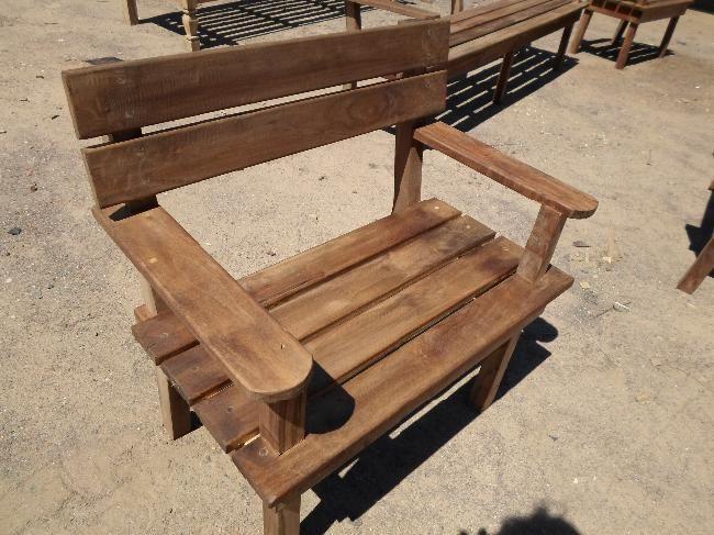 bancos de madera dura | Pilar | alaMaula | 109545383